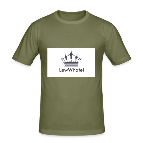 LewWhatel - Männer Slim Fit T-Shirt