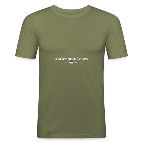 aGermanTeam_white - Männer Slim Fit T-Shirt