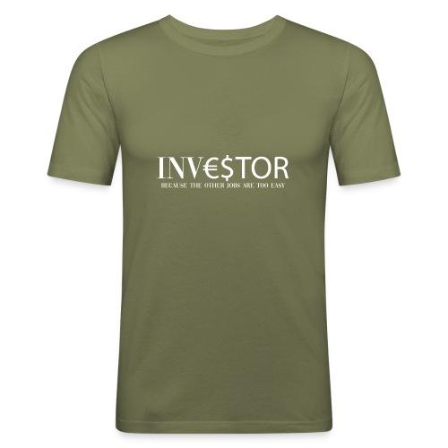 Investor White - Maglietta aderente da uomo