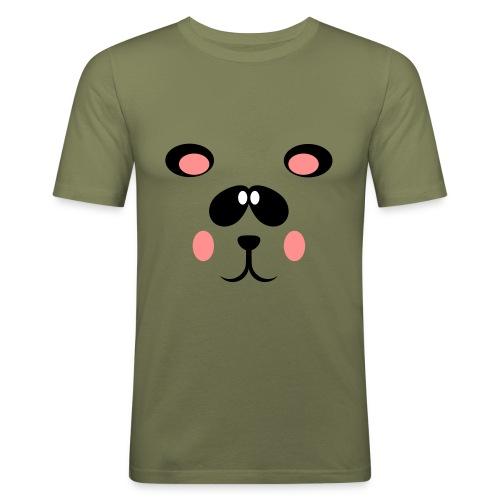Blozende pandabeer - slim fit T-shirt