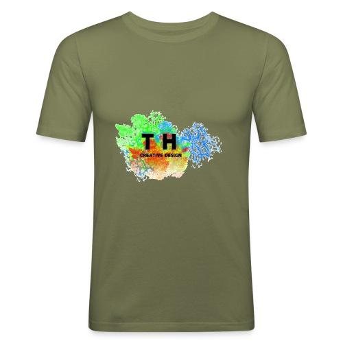 TH CREATIV DESIGN LOGO - Männer Slim Fit T-Shirt