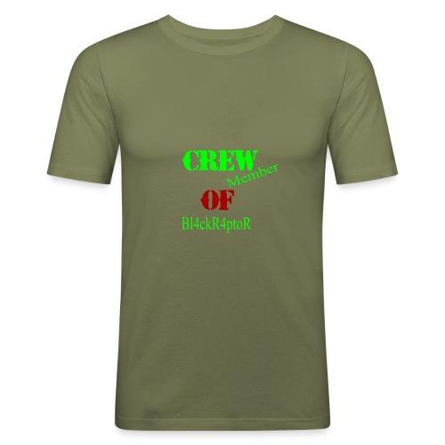 Crew_member_OF_BL4ckR4ptoRR - Männer Slim Fit T-Shirt