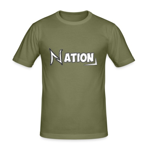 Nation Logo Design - Men's Slim Fit T-Shirt