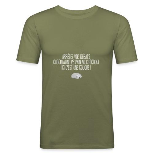 couque au chocolat - T-shirt près du corps Homme