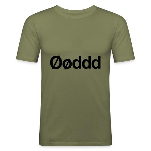 Øøddd (sort skrift) - Herre Slim Fit T-Shirt