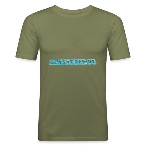 CLASHCOIN DE Text - Männer Slim Fit T-Shirt