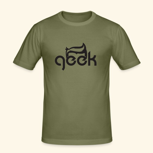 GEEK LOGO - Maglietta aderente da uomo