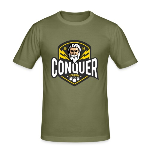 Conquer Yourself Clothing - Männer Slim Fit T-Shirt