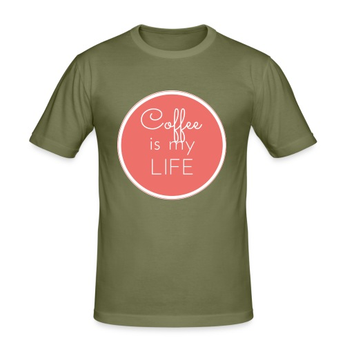 Coffee is my life - Camiseta ajustada hombre