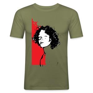 L'enfant rouge représente la terre rouge d'Afrique - Tee shirt près du corps Homme