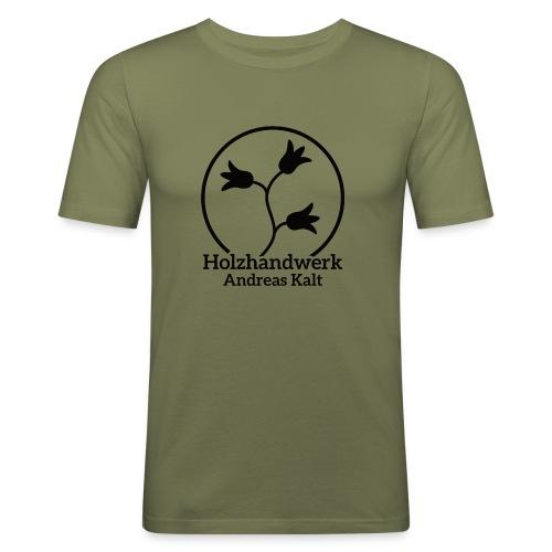Black Holzhandwerk Logo - Men's Slim Fit T-Shirt