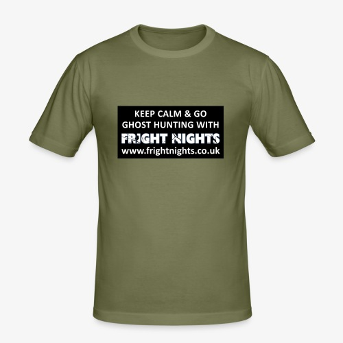 Keep Calm Go Ghost Hunting With Fright Nights - Men's Slim Fit T-Shirt