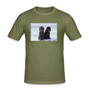 Barbets in the snow - Men's Slim Fit T-Shirt