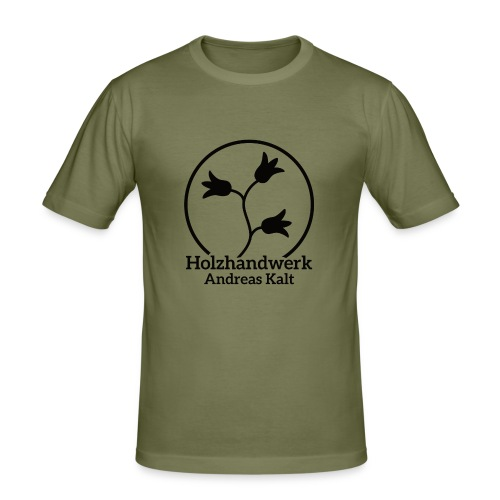 Black Holzhandwerk Logo - Men's Slim Fit T-Shirt