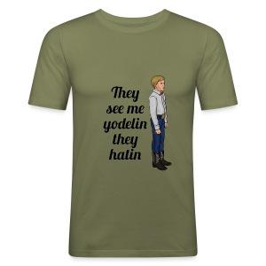 Tenn1sTv Yodelin Kid - Men's Slim Fit T-Shirt