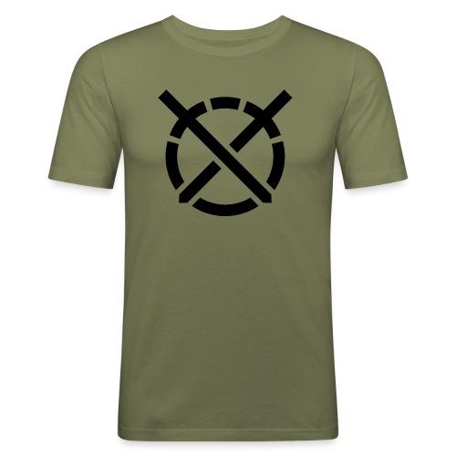 «Arte do Combate» simbolo preto - Camiseta ajustada hombre