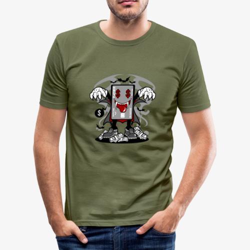 Vampir Kreditkarte - Männer Slim Fit T-Shirt