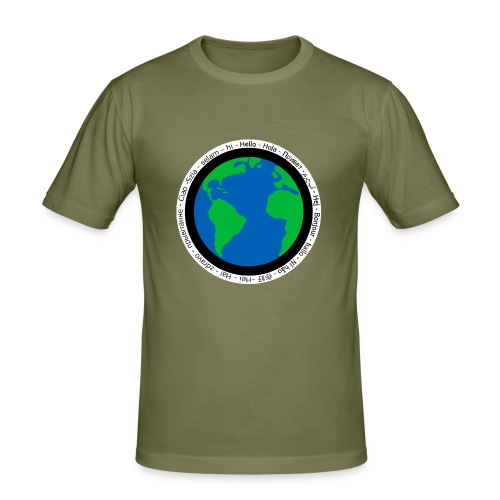 We are the world - Men's Slim Fit T-Shirt