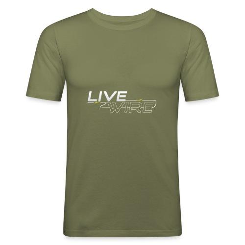 YT_Watermark - Men's Slim Fit T-Shirt