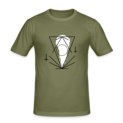 Geo-oddity_line_whiteout - Men's Slim Fit T-Shirt
