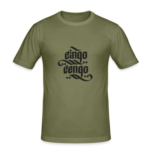 Logo CingoCengo BLACK - Männer Slim Fit T-Shirt