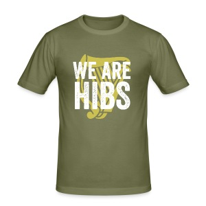 WEAREHIBS WhiteWithGoldHarp - Men's Slim Fit T-Shirt