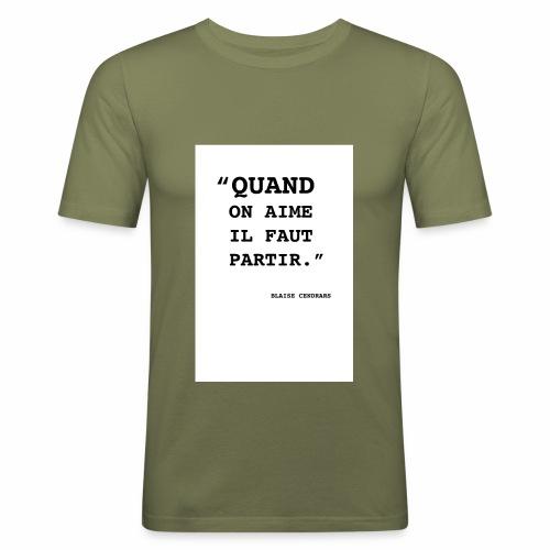 Cendrars#01 - T-shirt près du corps Homme