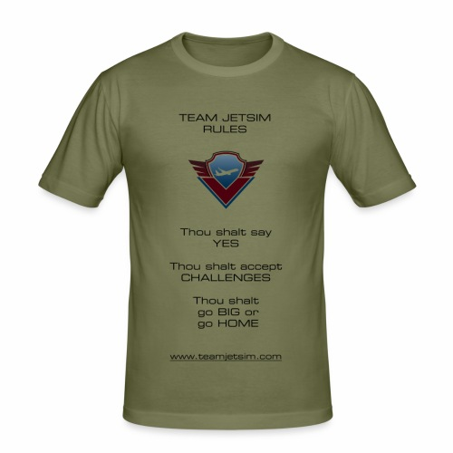 TJS RULES - Men's Slim Fit T-Shirt