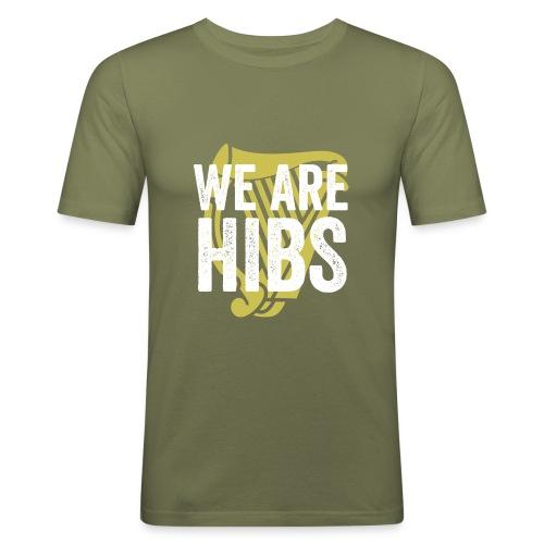 WEAREHIBS WhiteWithGoldHarp - Men's Slim Fit T-Shirt