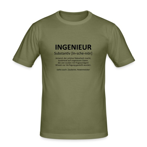 Ingenieur - Substantiv In-sche-niör (schwarz) - Männer Slim Fit T-Shirt