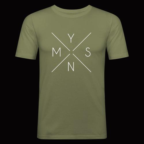 Box Logo weiß - Männer Slim Fit T-Shirt