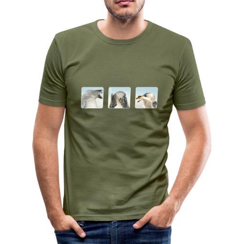 nichts sehen, nichts hören, nichts sagen - Männer Slim Fit T-Shirt