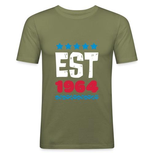 EST 1964 - ESTABLISHED IN 1964 - Männer Slim Fit T-Shirt