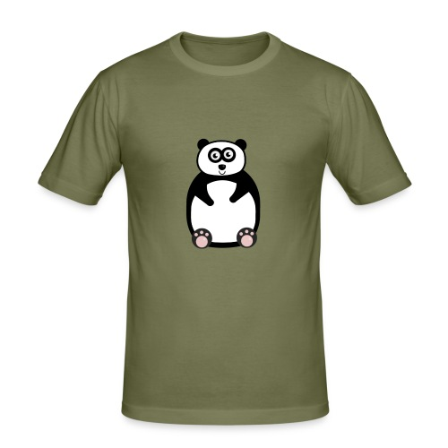 panda-png - Slim Fit T-shirt herr