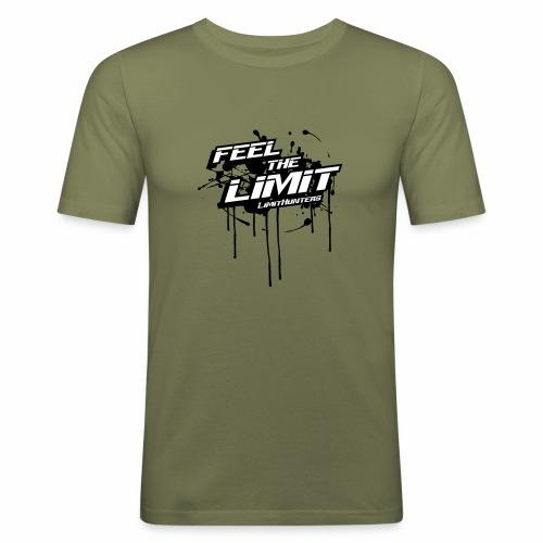 Feel the Limit - Splash edition B&W - Männer Slim Fit T-Shirt
