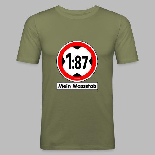 1:87 Mein Massstab - Männer Slim Fit T-Shirt