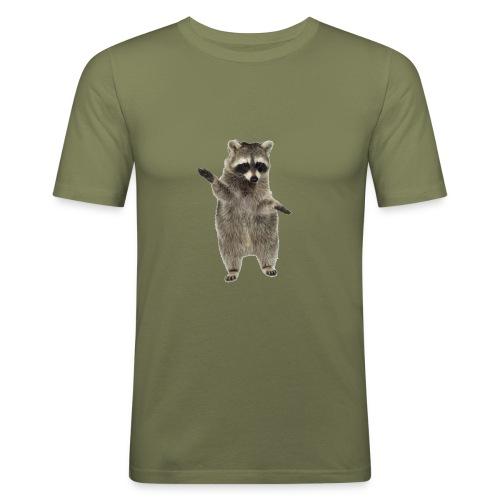raccoon - Männer Slim Fit T-Shirt