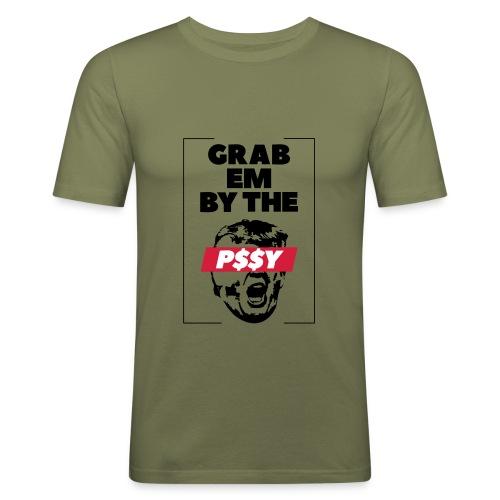 pussy black - Männer Slim Fit T-Shirt