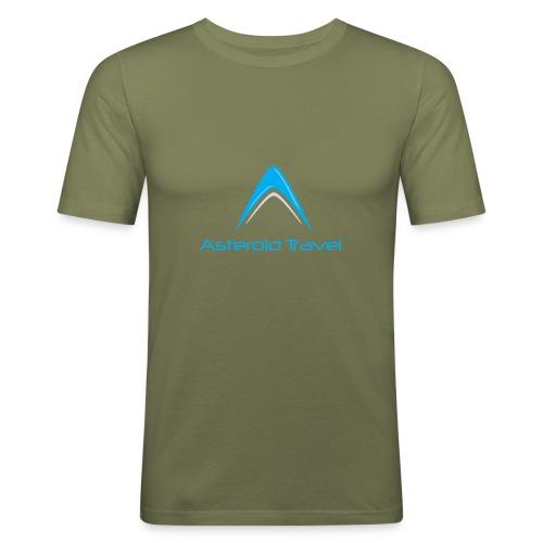 Asteroid Travel Logo - Slim Fit T-skjorte for menn