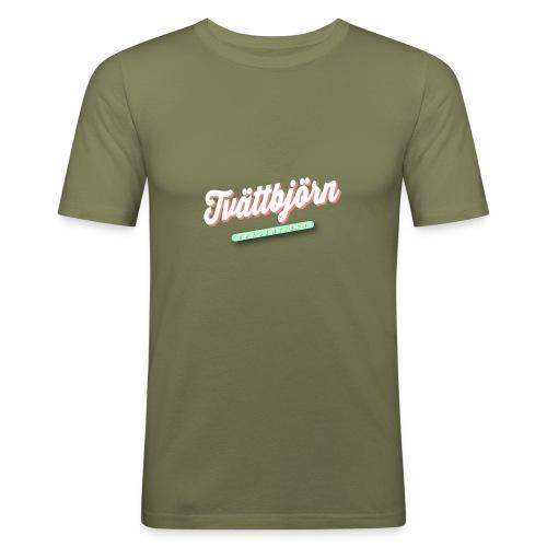 Schriftzug Tvättbjörn präsentiert... - Männer Slim Fit T-Shirt