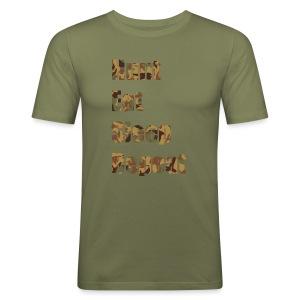 Hunt, Eat, Sleep, Repeat - Männer Slim Fit T-Shirt