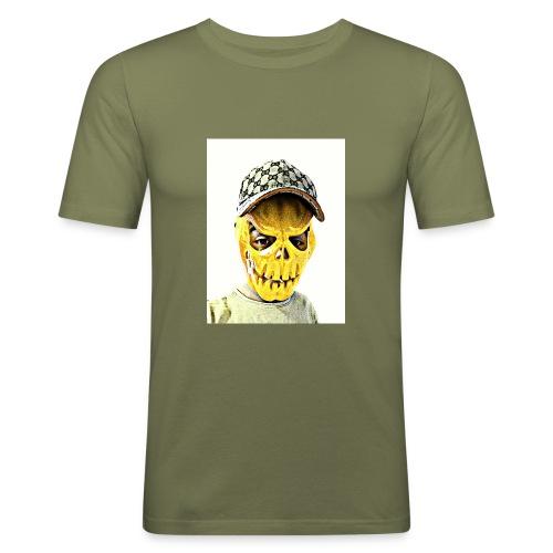 Gelber PMKM - Männer Slim Fit T-Shirt