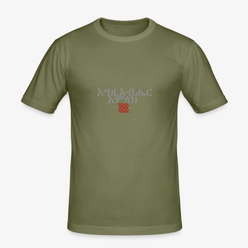 Igziabeher Amlak - Men's Slim Fit T-Shirt