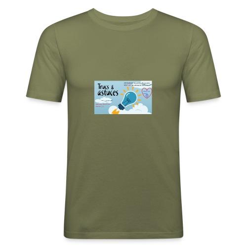 astuces mansour - T-shirt près du corps Homme