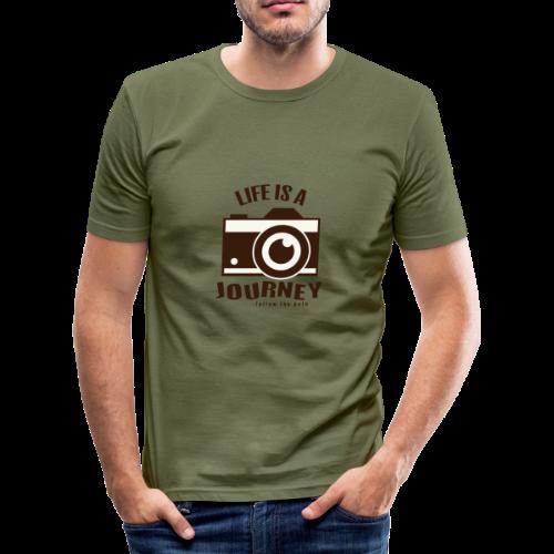 Life is a Journey - Männer Slim Fit T-Shirt