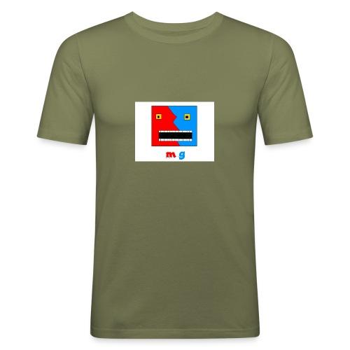 button cool monster gamer - Slim Fit T-skjorte for menn