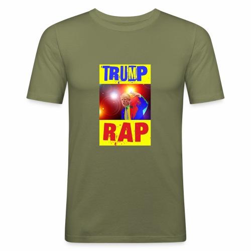 Rap, Trump! - Maglietta aderente da uomo