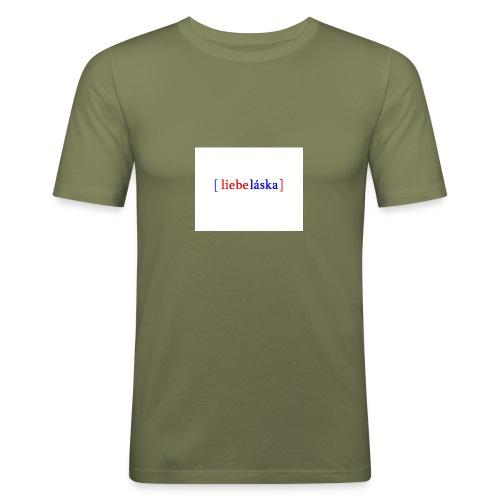 LIEBELASKA - Männer Slim Fit T-Shirt