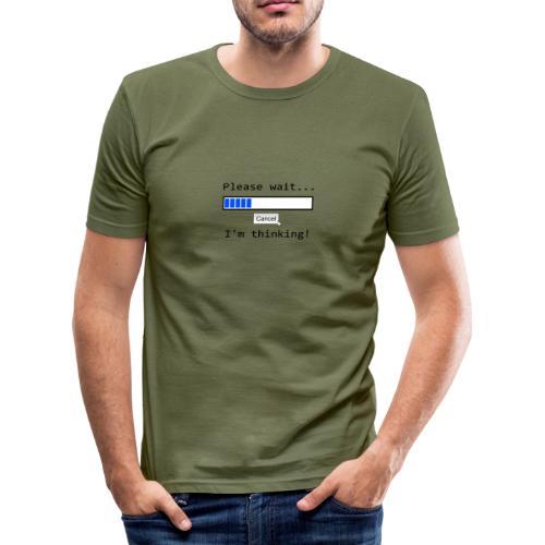 Thinking - Männer Slim Fit T-Shirt