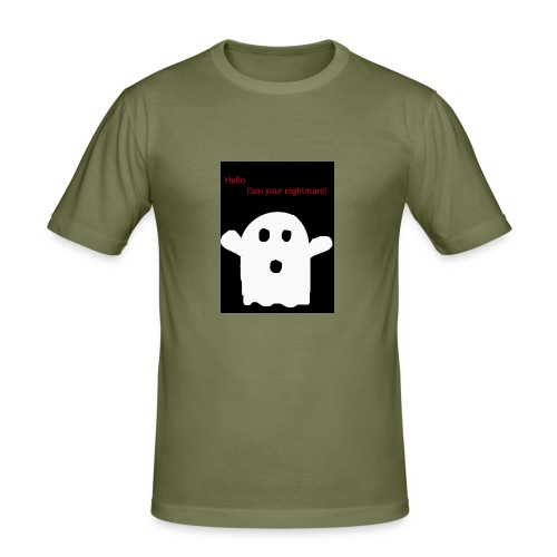 Cute Ghost - Miesten tyköistuva t-paita